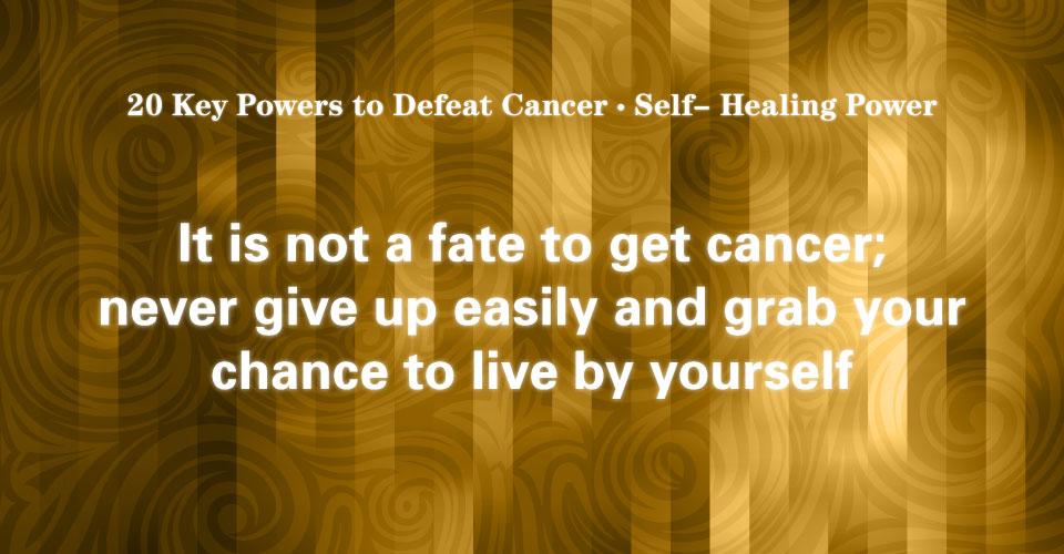 01 Self-healing Power: Utilize Own Self-Healing Power