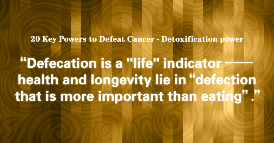 13 Detoxification Power: Defecation That is More Important Than Eating